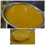 インドネパール料理 ヒマラヤキッチン - ◆キーマカレー・・辛さは5段階でしたので、中間の「3」を。程よい辛さで私には丁度いい。 鶏挽肉の量も以前より増えたような感じがしますし、普通に美味しい。
