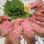 つけ串 安愚楽 - ビンタのたたき(牛ほほ肉):600円