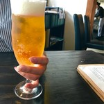 カフェ オニヴァ - キンキンに冷えたエビスビール(*^_^*)