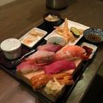 ウオトシ御食事処 - 料理写真:にぎり定食(税込1800円)