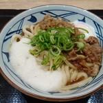丸亀製麺 - 限定/牛とろ玉うどん大