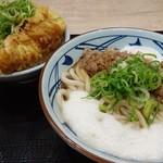 丸亀製麺 - 限定/牛とろ玉うどん大+天丼