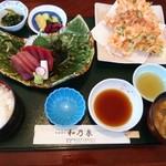 和乃泉 - 料理写真:鮪と桜海老のかき揚げ定食