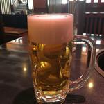 炭火焼肉 明翠園 - 生ビール(580円)