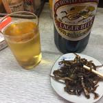 岩崎酒店 - 瓶ビール400円 くぎ煮200円 でした