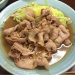 みん亭 - 生姜焼き定食アップ