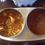 イーマサラ - ダブルカレーランチ(たけのこチキンカレー、金時豆カレー)
