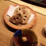 風和利 - れんこん天ぷら 加賀野菜