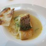 66584320 - 29年5月 真鯛のスープ ウイキョウと葱