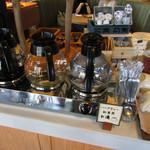 カフェ&レストラン グリーンテーブル - ドリンクバー:ホットコーヒー・ハーブティー紅茶用お湯