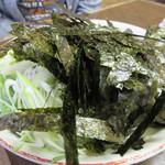 恵比須 - 海苔ネギまみれラーメン780円。