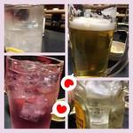鳥長 - レモンサワー、ビール、角ハイボール、バイスサワー(梅しそ