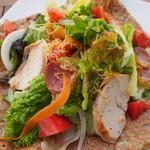 鏡池どんぐりハウス - 信州黄金シャモ&ハーブ鶏のりんご燻しガレット