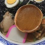 寒風山食堂 - 男鹿岩のりラーメン スープアップ