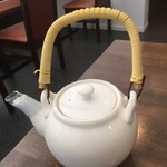 川越 藪蕎麦 - 蕎麦湯は釜湯です。
