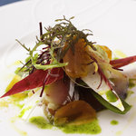 cucina Wada - 本日鮮魚のカルパッチョ 自家製からすみ添え