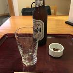 66601978 - ビール小瓶(600円)と蕎麦味噌