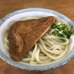 前場製麺所 - 料理写真:かけうどん2玉(*゚∀゚*)290円 宇宙一のお揚げさん100円