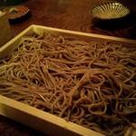 わらじや - せいろ蕎麦 黒 \800 ×2 (一盛りが二人前)