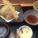 小名浜 - 天婦羅・茶わん蒸し・サラダ