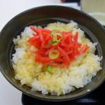 吉野家 - 玉子かけご飯に紅生姜