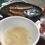 品川ビアガーデン - 本日のスープサムゲタン