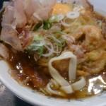 住よし JR名古屋駅・新幹線下りホーム店 - かき揚げきしめんの麺