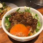 無添加焼きそば BARチェローナ - ミニ牛スジ丼! ★★★★☆