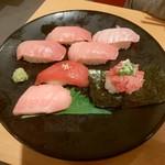 スシロー - 和歌山串本の生本鮪7貫盛り