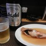 玉響 - 料理写真:お通し&ビール