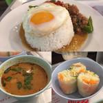 東桜パクチー - 追加したトムヤムスープと生春巻き