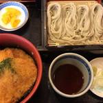 こんごう庵 - タレカツ丼へぎそばセット\1000