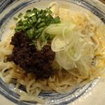 とろ鮪 - 自家製胡麻ダレの肉味噌タンタン冷麺 鶏ラー油がけ