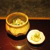 Daidokoro - 料理写真:お通し 鰆の卵の南蛮漬け と 菜の花、春キャベツ、メカブ、水烏賊のゲソ 等々の和え物