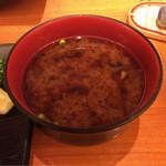 恵比寿かつ彩 - 味噌汁