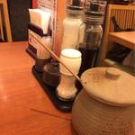 恵比寿かつ彩 - ドレッシング、ソース、岩塩