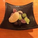 恵比寿かつ彩 - 口直しの甘納豆