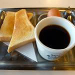 オレンジペコー喫茶 - こちらはモーニング。飲み物はモーレツ紅茶です。(2012年9月撮影)