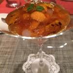 モノリス - 蒸し煮にしたエゾ鮑、肝とマディラのソース