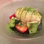 モノリス - ランティーユのフルーツぜんざい、黒糖のアイスクリーム
