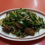 大野飯店 - 料理写真:レバニラ炒め
