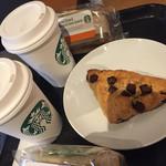 スターバックスコーヒー - スコーンとラテ