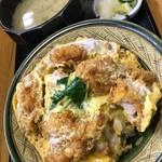 上の山亭 - 料理写真:金目鯛カツ の 丼ぶり