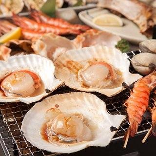 鮮魚をそのままの味で《浜焼き》コース<飲み放題付き>