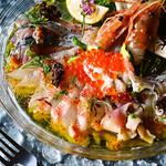 函館から!鮮魚と貝のカルパッチョ盛り