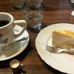 星乃珈琲店 - ケーキセット 星乃ブレンド+ミルクレープ