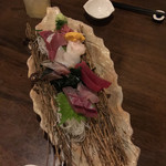 ふわり - おまかせお造り盛り合わせ珍しいマンボウの肝がありました美味
