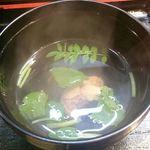 66649499 - うな丼やうな重には肝吸いが付いています。(お昼のうな丼には蛤のお吸い物が付いてきたことがあります)