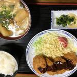 初雪食堂 - ヒレカツ定食 1000円