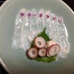 人丸花壇 - タコの薄造り